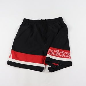 Vintage 90s Adidas Mens XL Spell Out Soccer Shorts